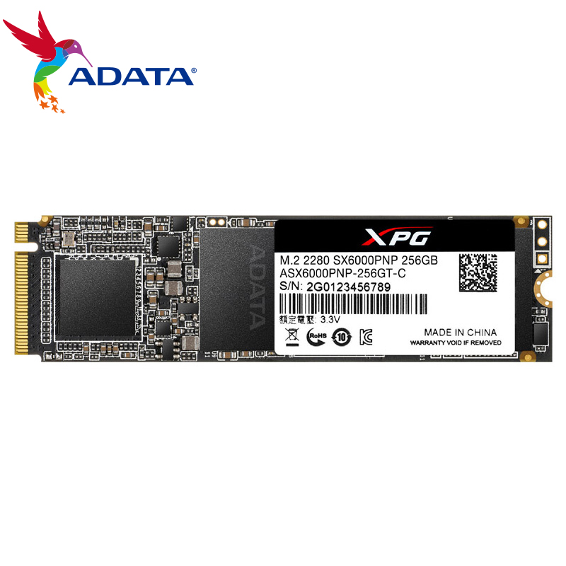 ADATA XPG SX6000PNP PCIe 256GB 512 GB PCIe Gen3x2 M.2 2280 NVMe Up To 2100/1500MB/s 256GB 512GB Solid State Drive Shockproof