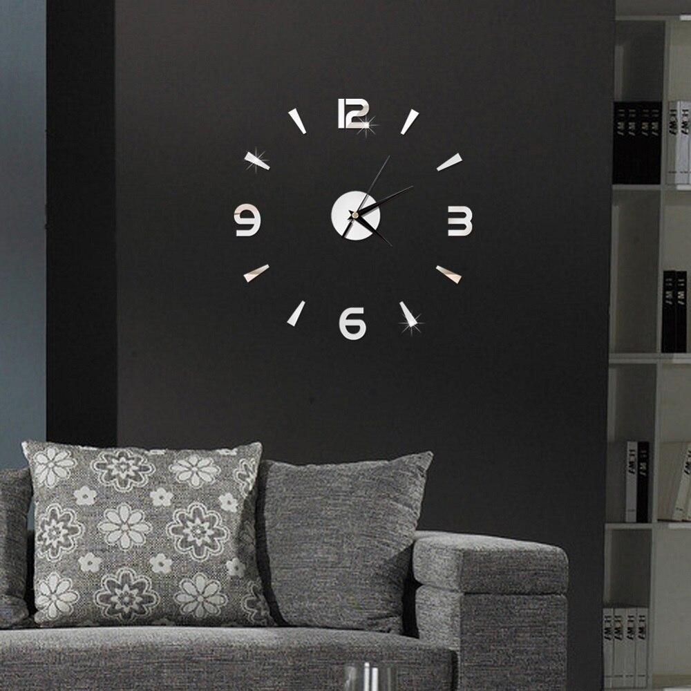 2019 New 3D Wall Clock Mirror Wall Stickers Fashion Living Room Quartz Watch DIY Home Decoration Clocks Sticker reloj de pared 2