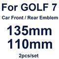Автомобильный Стайлинг передний капот решетки знак 135 мм 110 мм задний багажник эмблема крышки глянцевый черный/углеродного волокна/оранжев...
