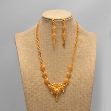 gold color necklace wedding Women Vintage Turkish Women African Beads Jewelry Set Dubai Indian Wedding Jewelry Sets Gold Jewelry luxury dubai jewelry sets women crystal gold wedding accessories flower necklace wedding african beads jewelry set costume