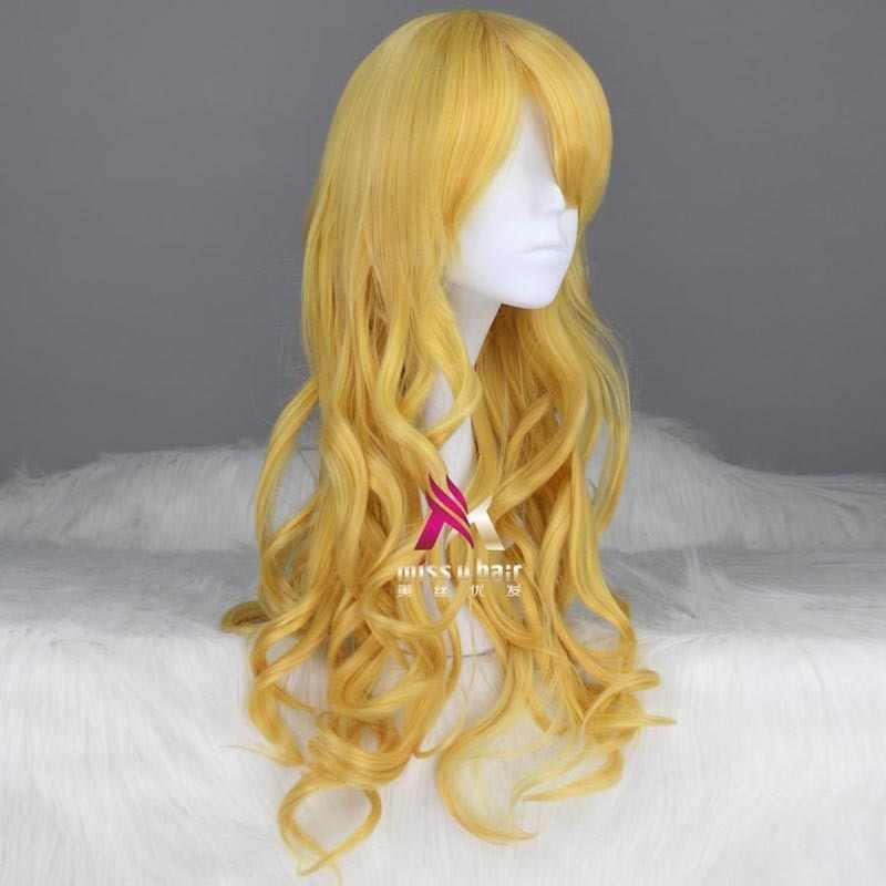 Yeni Kuroko basketbol Ryota Kise cinsel dönüş uzun güzel kıvırcık Cosplay peruk parti kadın + peruk kap