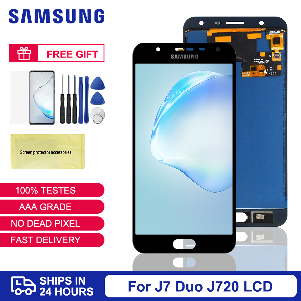 5.5'' LCD For <font><b>Samsung</b></font> <font><b>Galaxy</b></font> <font><b>J7</b></font> Duo <font><b>2018</b></font> J720 J720F LCD <font><b>Display</b></font> Touch Screen Digitizer Assembly For <font><b>Samsung</b></font> <font><b>J7</b></font> Duo J720 <font><b>Display</b></font> image