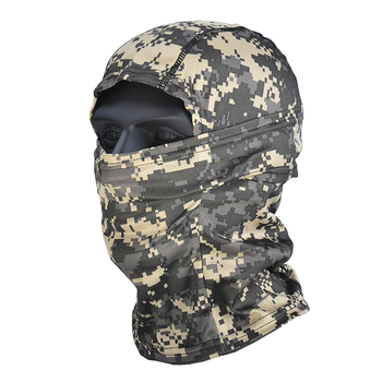 Airsoft Multicam Camouflage Tactical Paintball Wargame Military Airsoft Army Helmet Liner Protection Full Face Cap Mask for CS 6