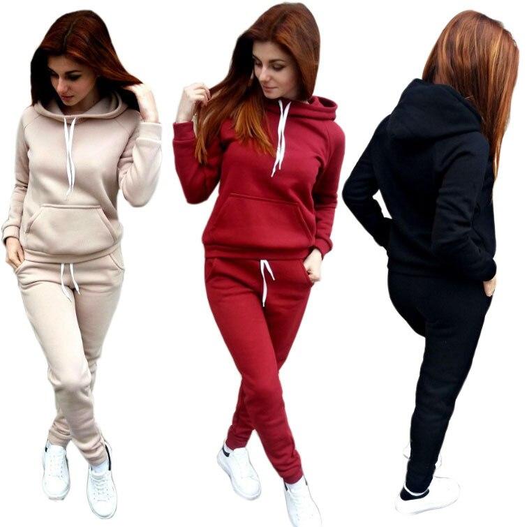 2017 Europe And America Fleece Sports Fashion Set Autumn And Winter New Style Cross Border WOMEN'S Dress EBay Amazon Wish Hot Se