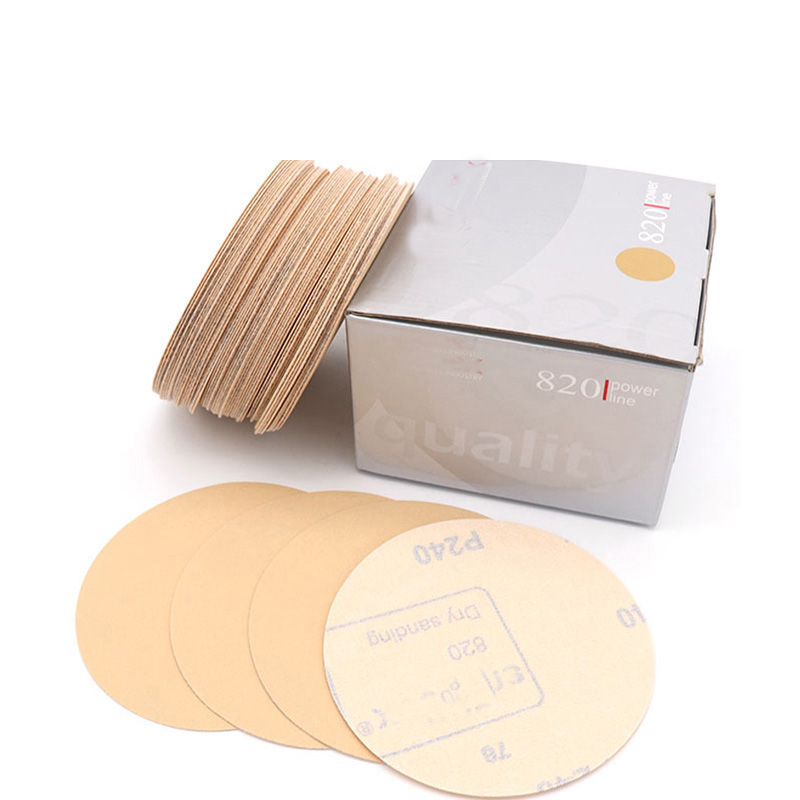 10pcs 125mm Flocking Yellow Sandpaper Self-adhesive For Sanding Discs For Wet/Dry Sanding Round Abrasive Sandpaper 60-1000 Grit