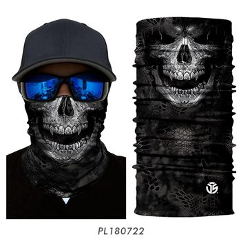 3D Seamless Bandana Neck Gaite Breathable Head Shield Half Face Cover Headband Anti-UV 10