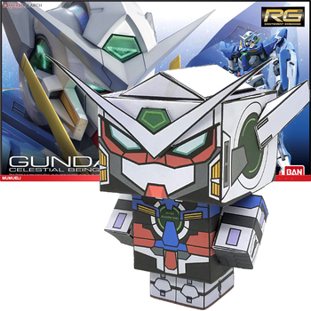 No-glue Gundam Exia NG-001 Folding Cutting Mini 3D Paper Model Papercraft Anime Figure DIY Cubee Kids Adult Craft Toys CS-031 image