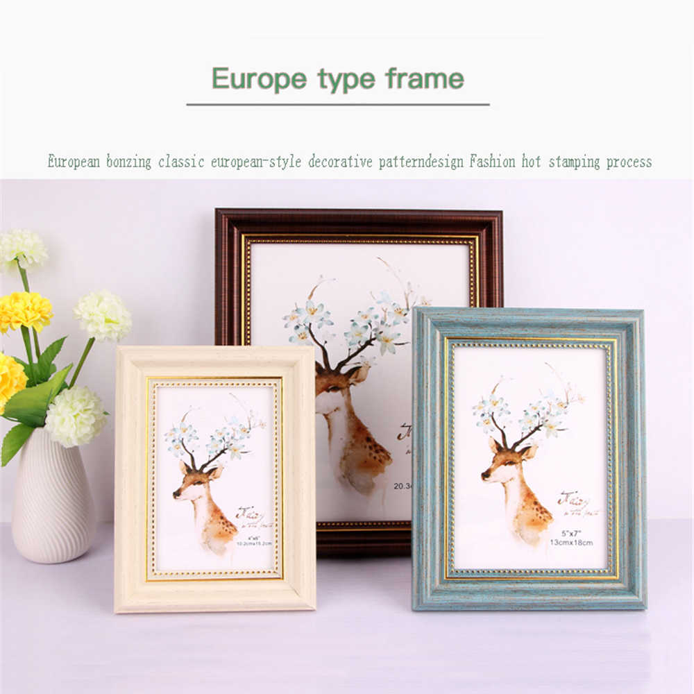 6/8/10 inch A4 Vintage European Style Photo Frame Picture Poster Frame Black Walnut Oak White New