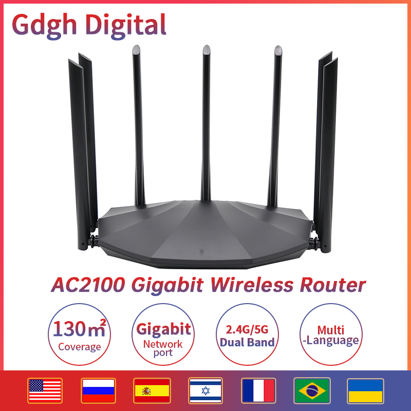 AC23 AC2100M Wireless WIFI Router Whole Home Dual Band 2.4G/5Ghz Gigabit Wifi Extender 7*6dBi Antennas With Multilingual 1