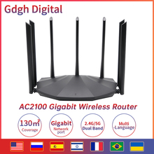 AC2100 Wireless WIFI Router Whole Home Dual Band 2.4G/5Ghz Gigabit Wifi Extender 7*6dBi Antennas Wifi Repeater With Multilingual