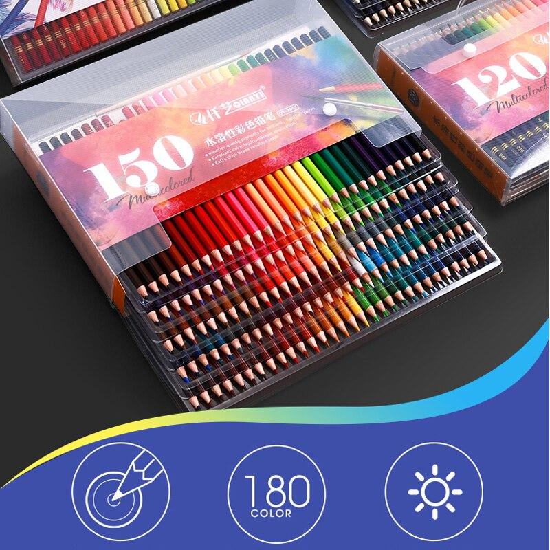 Новый 120/150/180 Цвет карандаш воды Цвет карандаши древесина мягкая ручная масляный цветной карандаш Цвет карандаш для художника, офисные школ...