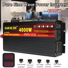 Onduleur 12 V/24 V 220V 2000/3000/4000W transformateur de tension onduleur à onde sinusoïdale Pure DC12V à convertisseur ca 220V + affichage 2 LED(China)