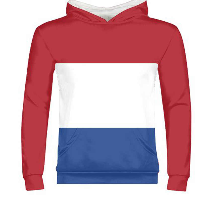 NETHERLANDS male free custom name photo nld zipper sweatshirt nation flag nl kingdom holland dutch print text country clothing