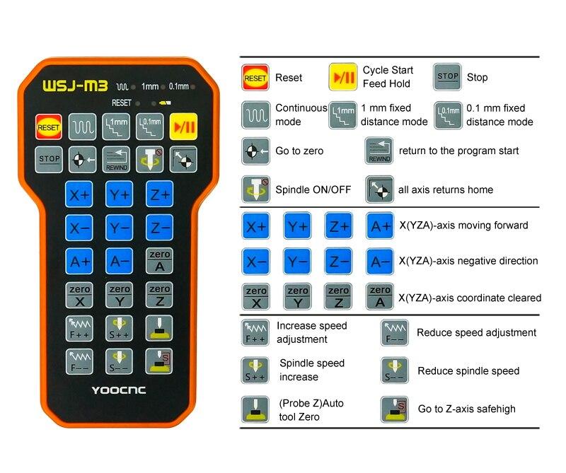 Peças de gravação cnc controle remoto mach3 mpg usb roda mão sem fio para máquina cnc - 6