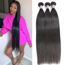 Alimice Brasilianische Gerade Haar Bundles 8  30 zoll Haarwebart Bundles 100% Menschliches Haar Bundles Nicht remy Haar weben 1/3/4 Stück