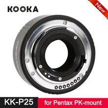 Kooka KK-P25 металлическая удлинительная трубка AF с автофокусом ttl для Pentax PK-Mount PK DSLR SLR камера Макросъемка крупным планом 25 мм
