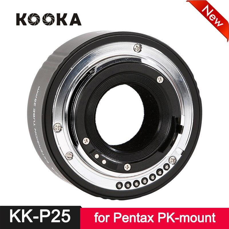 Kooka KK-P25 Tube d'extension en métal AF mise au point automatique TTL pour Pentax pk-mount PK DSLR appareil photo reflex gros plan Macro photographie Image 25mm