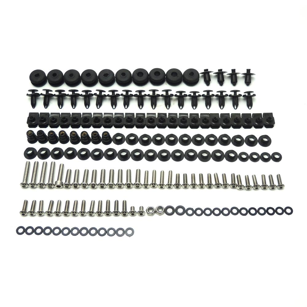 KEMiMOTO Motorcycle Fairing Bolts For <font><b>Yamaha</b></font> <font><b>R6</b></font> Bolt <font><b>Kit</b></font> <font><b>Body</b></font> Screws Complete Full Set YZF-<font><b>R6</b></font> YZF <font><b>R6</b></font> 2006 2007 Fastener image