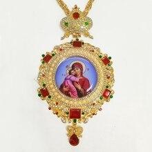 Ортодоксальный округлый крестик, религиозная икона, византийский распятие, ожерелье, католическое подтверждение, подарок, кулон