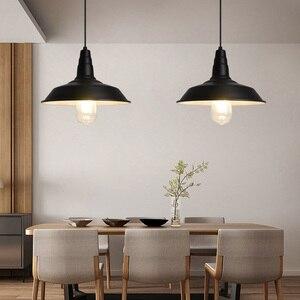 Image 3 - Artpad norte da europa ferro luz pingente industrial do vintage sala de jantar cozinha barra estudo hotel luminárias led branco preto