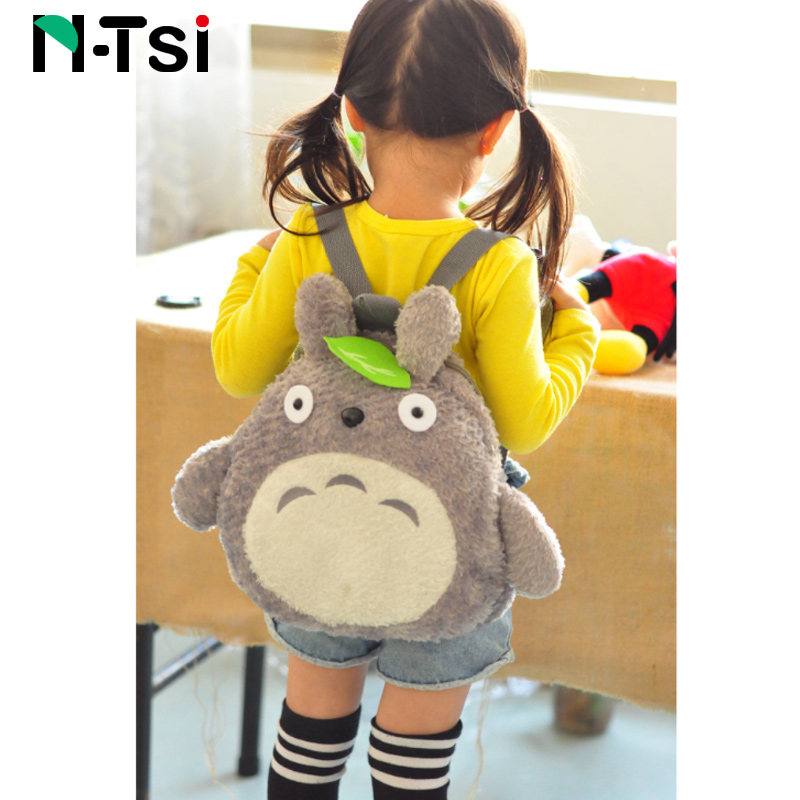 Totoro Plush Backpack For Kids Toddler New Cute Cartoon Stuffed Toy Kindergarten Children Outdoor Soft School Bag Boy Girl Gift