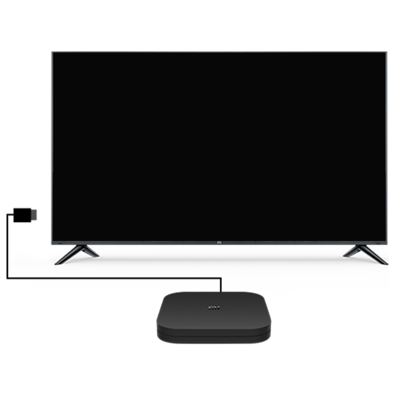 Xiao mi mi Box S 4K TV Box Cortex-A53 Quad Core 64 bit Mali-450 1000Mbp Android 8.1 2GB + 8GB HD mi 2,0 WiFi BT4.2 Neueste
