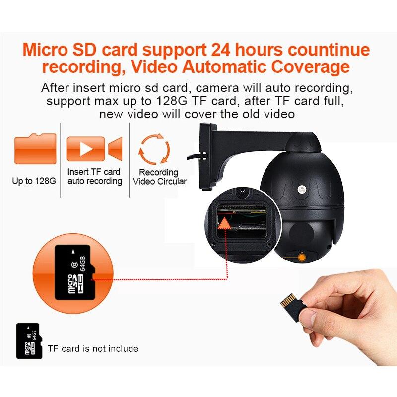 Poe Sd kaart Ptz Ip Camera 5MP 5 Xzoom Hikvision Dahua Nvr Compatibel Microfoon Speaker App H.265 Cloud Storage Mini dome Camera - 4