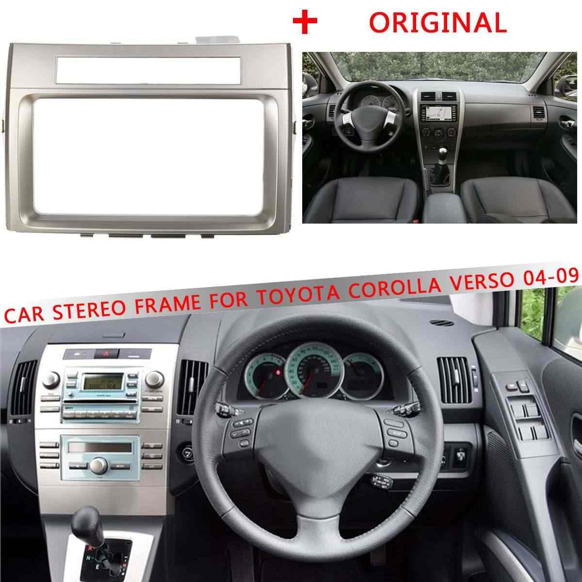 1PCS רכב CD/DVD סטריאו מסגרת Fascias לקצץ 2 דין רכב עבור טויוטה קורולה Verso 2004 2005 2006 2007 2008 2009 מתאם ערכת דאש