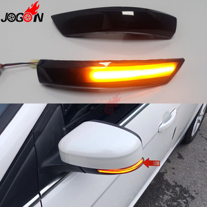 For Ford Focus 3 MK2 08-11 MK3 3.5 11 -2018 E mark LED Dynamic Turn Signal Light Side Wing Rearview Mirror Indicator Sequential