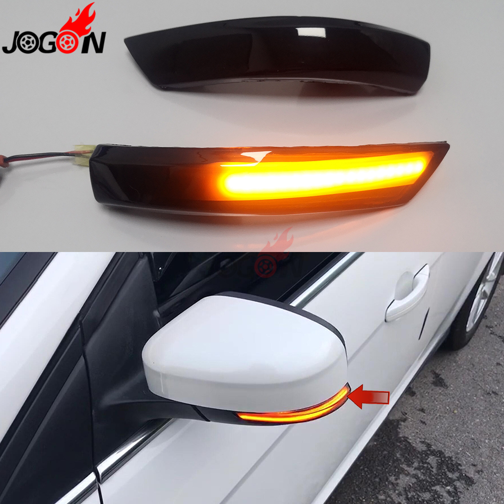 For <font><b>Ford</b></font> <font><b>Focus</b></font> 3 MK2 08-11 MK3 3.5 11 -2018 E mark LED Dynamic Turn Signal <font><b>Light</b></font> Side Wing Rearview Mirror Indicator Sequential image
