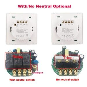 Image 4 - Lonsonho Tuya Zigbee Smart Switch With / No Neutral EU UK 220V Wireless Button Light Switches Support Zigbee2mqtt Home Assistant