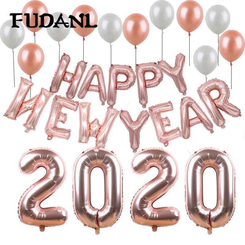 """1 комплект счастливого Нового года 2021 вечерние украшения 32 """"Розовое Золотое серебряное число фольги воздушные шары для семьи вечерние принадлежности для детского душа"""
