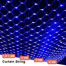 Net Mesh Led Light Decoration Garden LED String Fairy Lights Christmas Wedding Party Outdoor Chain Starry Garland Lamp