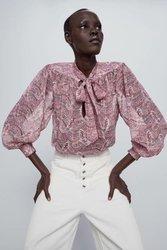 Женская блузка в европейском стиле zaraing vadiming sheining, Новинка весна-лето 2020