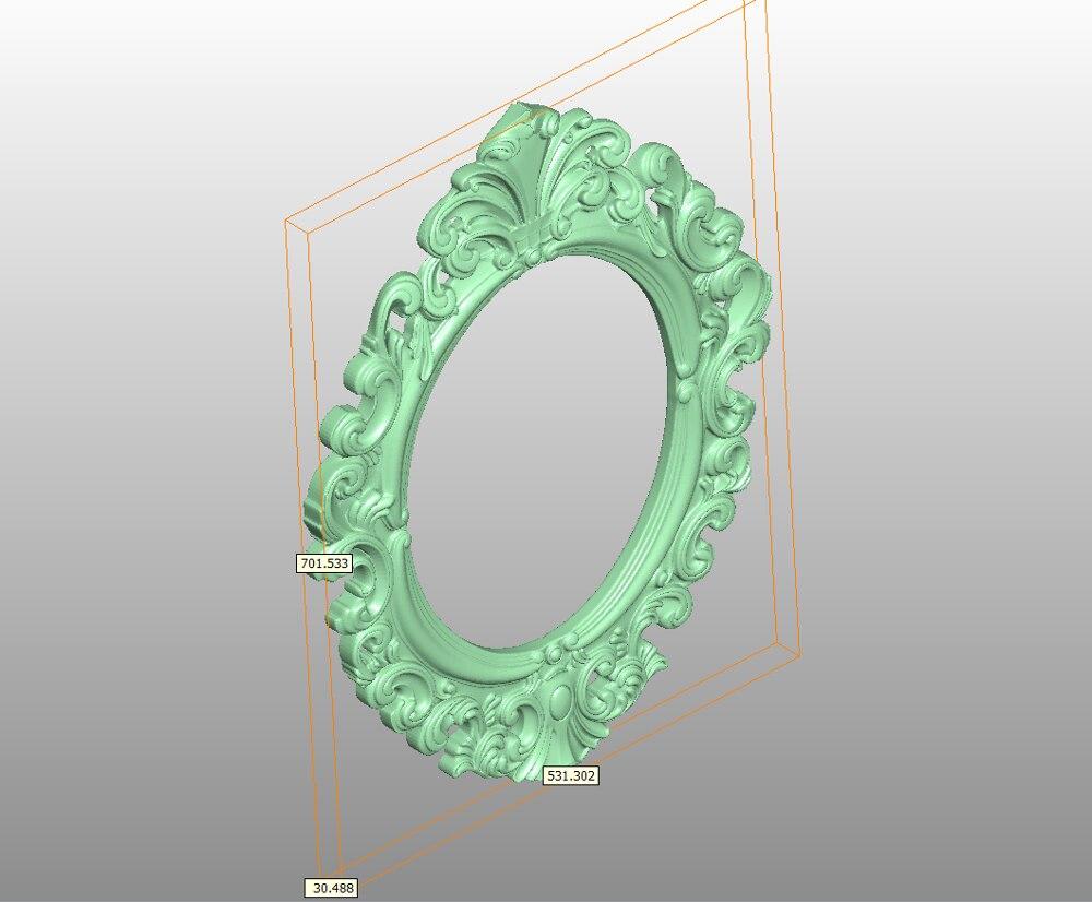 Цифровая файловая фоторамка 3d модель, рельеф для гравировки с ЧПУ в формате STL artcam type3 aspire E96