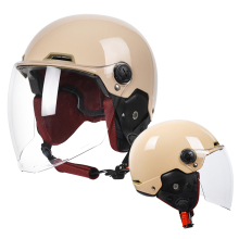 Yema moto rcycle meia capacete homem mulher do vintage removível scooter capacete ciclismo bicicleta elétrica moto abrir rosto capacetes de segurança