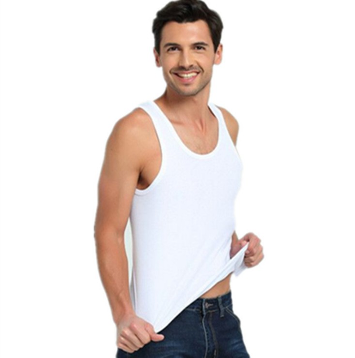 New Cotton Sleeveless Undershirt Gym Tank Top Men Fitness Shirts Mens Bodybuilding Workout Vest Factory Outlet