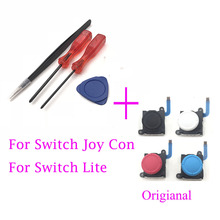 Interruptor Analógico Original 3D Joystick para Nintendo Alegria Con & Lite Controlador Joysticks Esquerda RightW/Chave De Fenda Kit de Ferramentas Aberto
