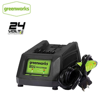 Greenworks 29862 G24 Mower Battery Charger 24 V Rubber Feet Wall Mounted Installation Design Full Stop Free Return