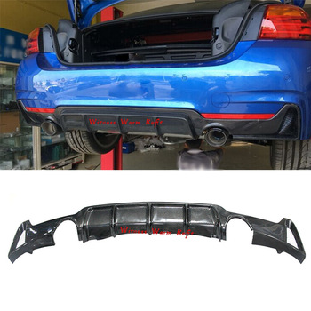 Carbon Fiber 4 Series Car Rear Bumper Diffuser Lip Spoiler for BMW F32 F33 F36 M Sport Mtech bumper Only 13-19 435i 420i 428 FRP image