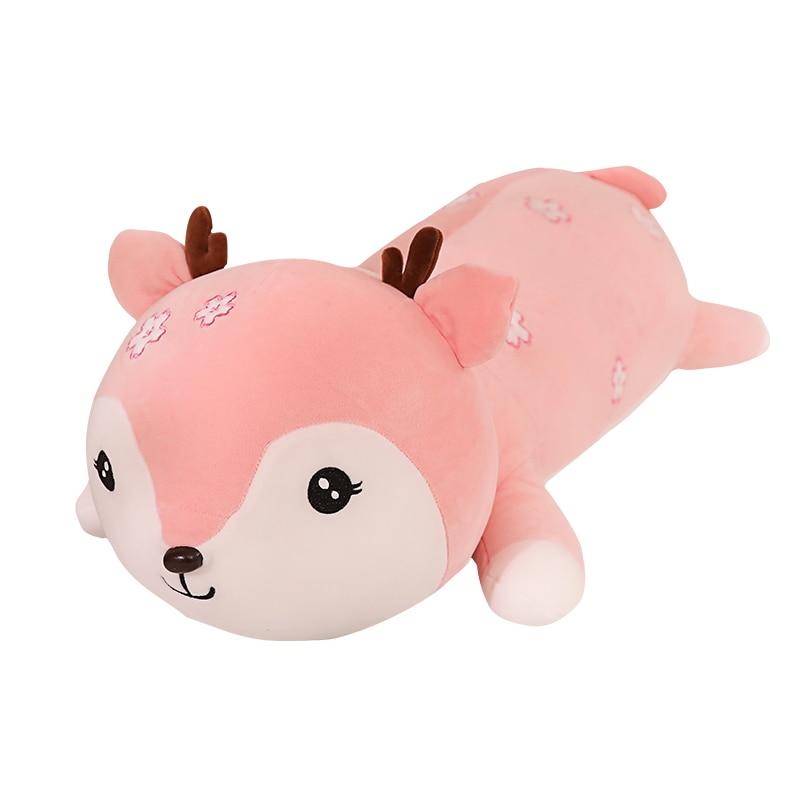 Подушка кукла-Фаун 80/100 см, мягкая плюшевая игрушка, мультяшное животное, детская подушка для сна, подарок для девочки на день рождения, домаш...