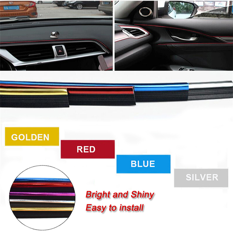 Универсальная автомобильная литьевая отделка 5 м, отделка салона, внешняя панель, защита кромок, декоративная полоска, хромированные аксесс...