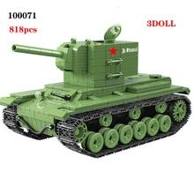 NEW 818 PCS Soviet Army kv2 Tank Military Building Blocks Military Soviet Army Soldier Weapon accessory Bricks Toys for children printio soviet tank