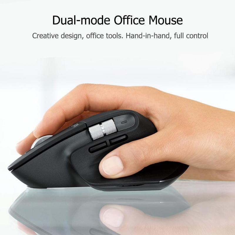 Logitech MX Master3 Wireless Bluetooth Mouse 2.4GHz 4000DPI Adjustable Dual Mode Flow Speed Mice high precision Mouse for work - 2