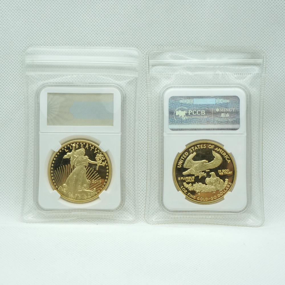 non magnetic Hot selling 2011 USA American gold Eagle one troy oz .999 Bullion coin High quality American eagle with PCCB case|Non-currency Coins|   - AliExpress