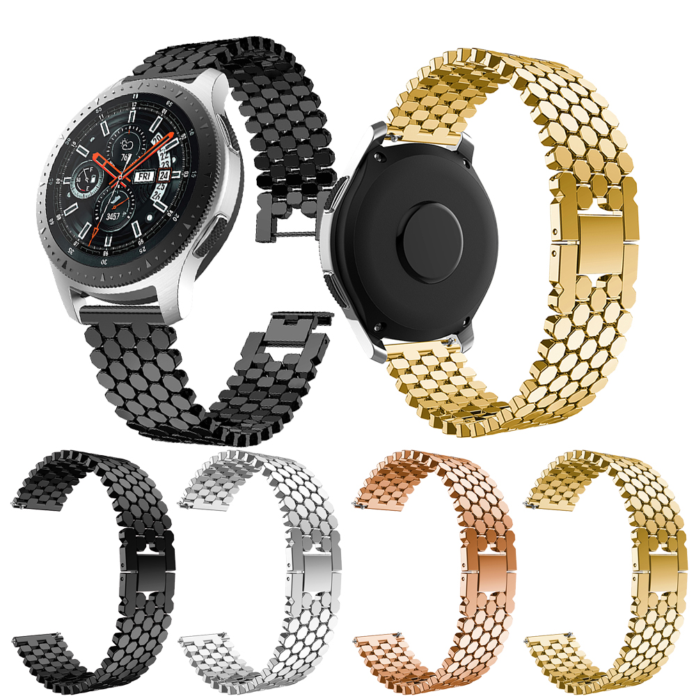 newStainless Steel Replacement <font><b>Smart</b></font> <font><b>Watch</b></font> Band For <font><b>Samsung</b></font> Galaxy <font><b>Watch</b></font> <font><b>46mm</b></font> <font><b>Bracelet</b></font> <font><b>Watch</b></font> Band Fashion Strap 22mm For Gear S3 image