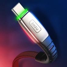 INIU 3A 2m type C Micro USB кабель для зарядки мобильных телефонов type-C Быстрая зарядка для samsung Xiaomi huawei Andriod Microusb шнур для передачи данных