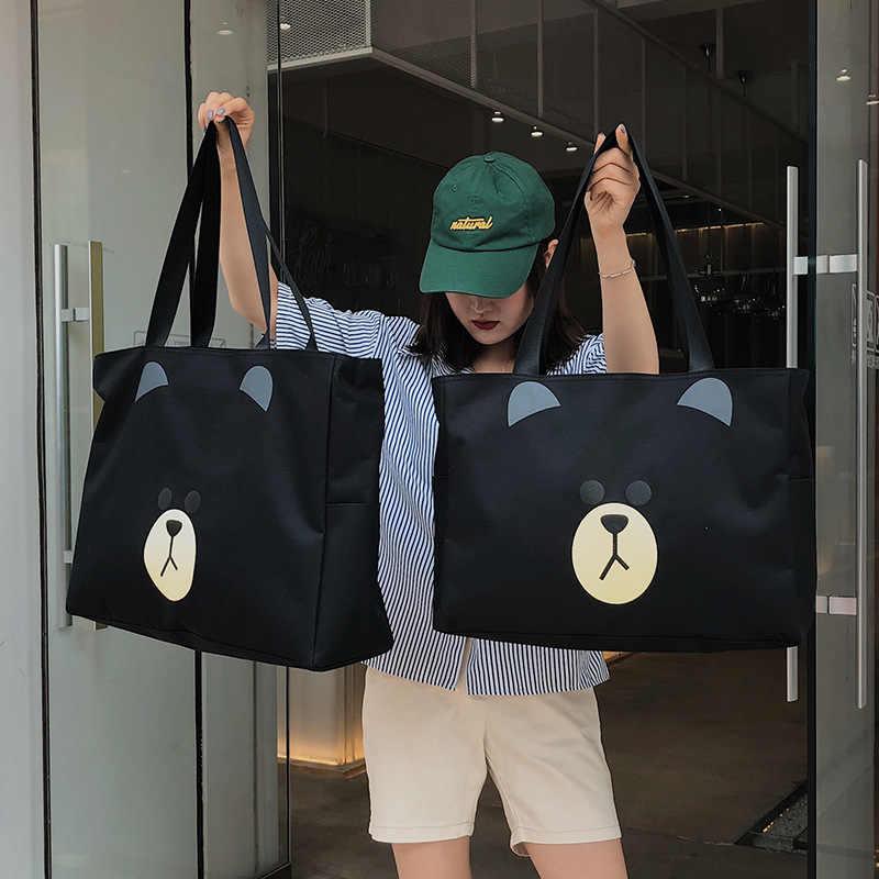 Новая портативная дорожная сумка большая Вместительная дорожная сумка-Органайзер сумка на плечо для мужчин и женщин сумка для багажа