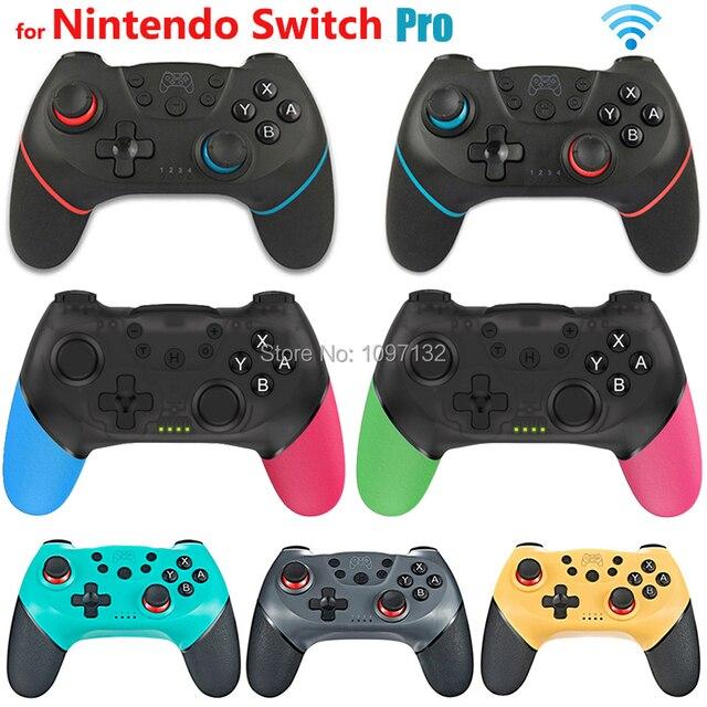 Sem fio bluetooth gamepad para switch pro ns switch pro controlador de joystick de jogo com alça de 6 eixos para nintendo switch console