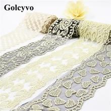 1Meter Black White Spun Gold Embroidery Lace Trims Ribbon Wedding Dress Curtain DIY Sewing Crafts